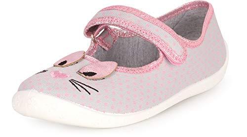 Ladeheid Zapatillas Zapatos Calzado Niña LARW007 (Gris Gato, 26 EU)