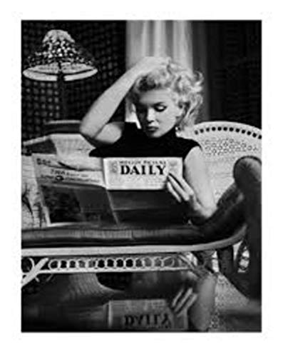 Marilyn Monroe Motion Picture Daily Black and White Photo Poster Thick Cardstock Poster 23.5x31.5 inch