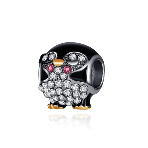 ZHANGCHEN Crystal Animal Penguin Beads Charms fit Original Pandora Bracelets & Bangles for Women DIY Party Jewelry Accessories