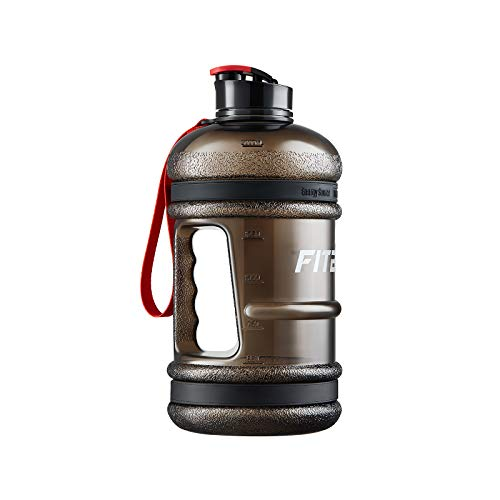 FitBeast 2.2 Litre Water Bottle, BPA Free Large Gym Water Bottle- with Wide Mouth, Flip Cap, Lid Leakproof, Sports Gallon Water Jug Ideal for Gym, Training, Hiking, Travel, Outdoor Sport, Home&Office