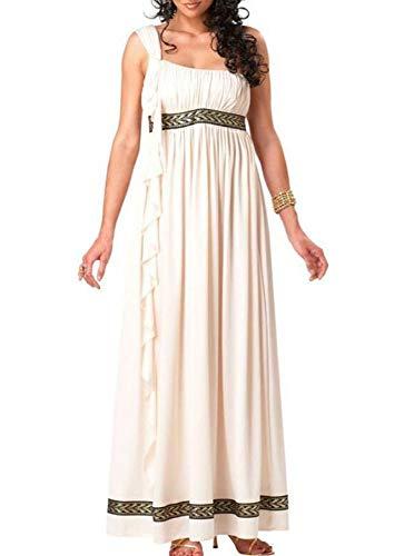 Disfraz de Diosa de Mujer Adulta, Diosa Romana Toga Griega Antigua Disfraz Disfraz, Disfraz de César
