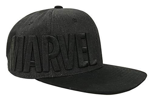 Gorra de béisbol con logotipo de Marvel en color negro, talla única (ajustable)