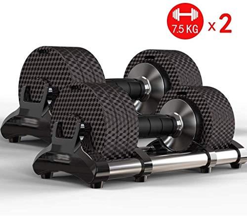 LCNING 15KG (33lb) Einstellbare Dumbbells Set Fitnessgeräte Einstellbare Hantel Bodybuilding Hanteln Gewichte Set