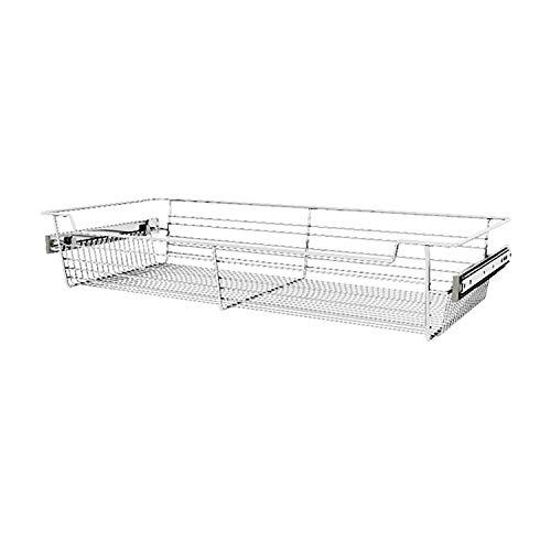 Rev-A-Shelf Sidelines CBSL-301405CR-3 30 Chrome Wire Pullout Storage Basket Bin Organizer for 14 Deep Kitchen Bathroom or Closet Cabinet 3 Pack