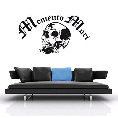 Memento Mori Tod Sterben Wandtattoo mit Totenkopf Aufkleber Sticker Skull Motiv Romantik  KA090
