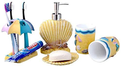 El alcohol dispensador automático de alcohol Embotellas de dispensador de jabón Estilo de playa Resina Moda Cuarto de baño Kit de baño Cuarto de baño Cuarto de baño Conjunto...