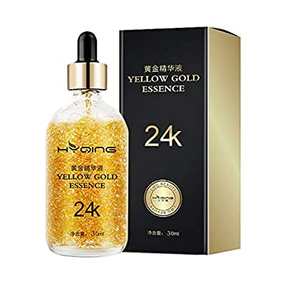 24K Gold Serum, Yiitay Face Serum Face Essence Anti-aging Anti Wrinkle Facial Serum Promote Metabolism, Whitening & Moisturizing for Women Face Skin Care - 1 fl oz/30ml