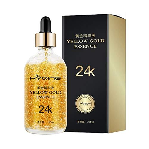 Allbesta 24k Gold Serum Feuchtigkeits für Anti-Falten Anti Aging Firm Brighten Skin Lighten Fine Lines Gesichtsserum (30ml)