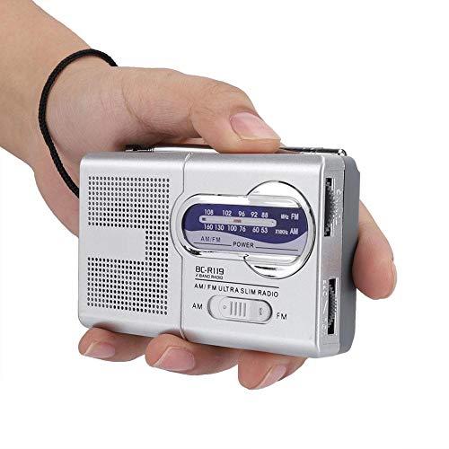 Neufday Mini Radio, Mini Bolsillo Multifuncional Am/FM