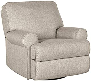 Signature Design by Ashley Ferncliff Swivel Glider Recliner Sepia