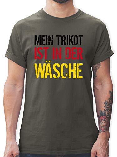 Fußball-Europameisterschaft 2021 - Mein Trikot ist in der Wäsche WM Deutschland - S - Dunkelgrau - Deutschland Trikot Herren - L190 - Tshirt Herren und Männer T-Shirts