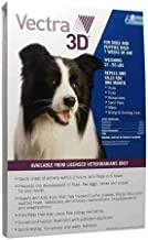 VECTRA 3D 6 Pack Blue for Medium Dogs 21-55 Pounds USA Version EPA Registered (Controls Fleas, Ticks, Mosquitoes, Lice, Mites, and Sand Flies)