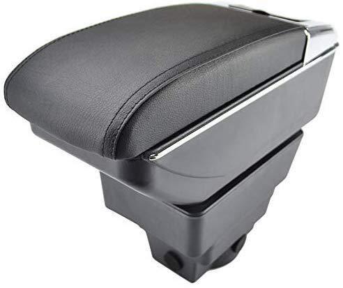 Mmhot-fs Center Console Storage Box Dual-Layer-Armlehne mit Getränkehalter Aschenbecher Autozubehör for Astra J 2009-Geschenk/for Opel Astra Mk6 2009-2015 (Farbe : Black with Black Thread)