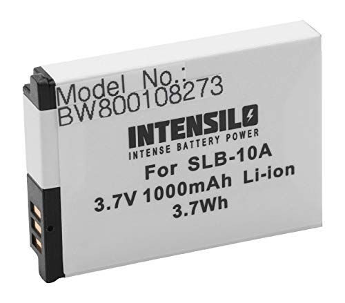 INTENSILO Li-Ion Akku 1000mAh (3.7V) für Kamera Camcorder Video Samsung Digimax PL50, PL51, PL55, PL60, PL65, PL70 wie SLB-10A.