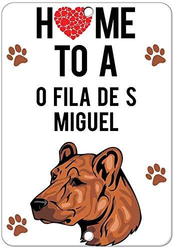 Home To C O Fila De Miguel hund retro look järn 20 x 30 cm dekoration målning skylt för hem kök badrum gård trädgård garage inspirerande citat väggdekor