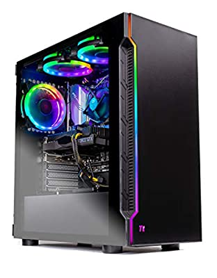 Skytech Shadow Gaming Computer PC Desktop – Intel Core i5 9400F 2.9GHz, GTX 1660 6G, 500GB SSD, 8GB DDR4 3000MHz, RGB Fans, Windows 10 Home 64-bit, 802.11AC Wi-Fi