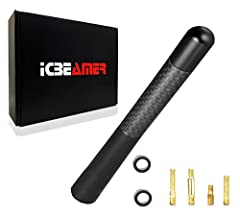 ⭐Worry about your car antenna getting bent by violent car washing? How about give this 5 inch truck antenna a try! ICBEAMER short antenna is specially designed for sports cars. It is short yet robust to withstand the car wash, and will not easily be ...