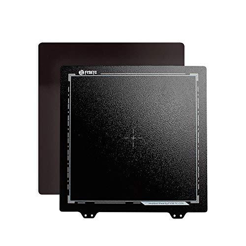 BCZAMD Ender 3 Upgrade Build Oberfläche, Heizbett Doppelseitig strukturierte Pei Feder Pulverbeschichtete Stahlblechplattform mit B-Magnet-Montagebasis für Ender 3 Pro 3D-Druckerteile, 235x235mm