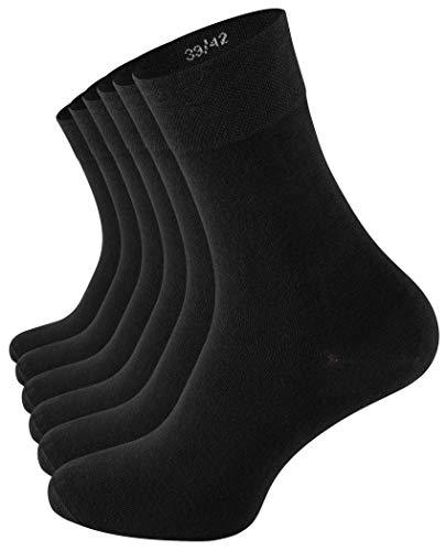 CC Clark Crown 6 Paar Baumwoll-Socken Edel & Modern ohne drückende Naht - Schwarz - Gr. 39-42