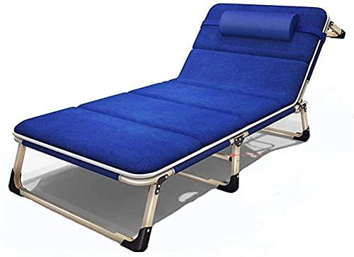 MION SillóN Reclinable Exterior, Muebles de Patio reclinables Plegables, sillones de Moda Sillón de salón Plegable portátil Verano, Oficina en casa, Cama para la Siesta, Cama para la Playa a