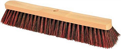 Escoba Arenga/cepillo barrendero L, 400mm sillín con mango de madera natural con agujero