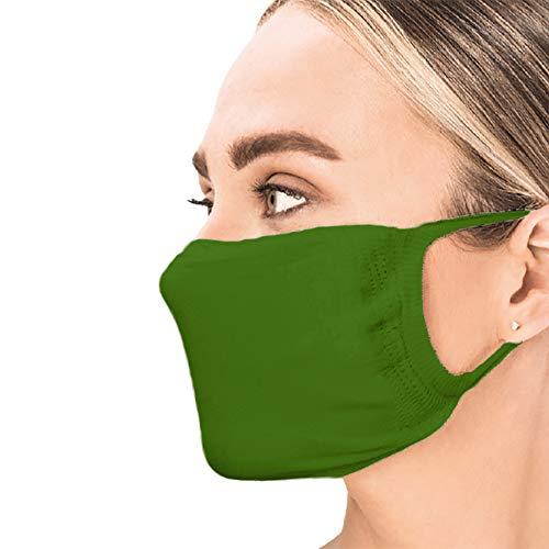 Sedax ® Innovative Silber-Ion Stoffmaske 2-Lagig Waschbar | Mundschutz-Maske für Damen Herren & Alltagsmaske für Kinder | Behelfsmaske Mund und Nasenschutz (5 Stück Erwachsen Farbig)