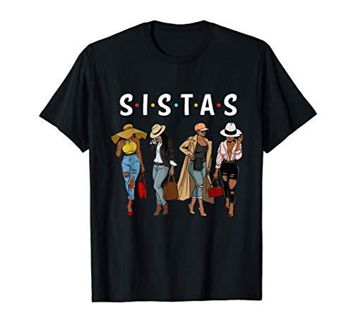 Black Sistas Queen Melanin African American Women Pride Gift T-Shirt