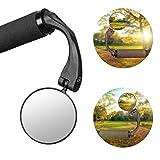 LuTuo Fahrradspiegel, Fahrradlenker End Halterung, Fahrrad-Rückfahrlicht, 360 Grad Drehbar, Weitwinkel Spiegel, Blendfreies Glas, Robust und Langlebig, für Mountainbike
