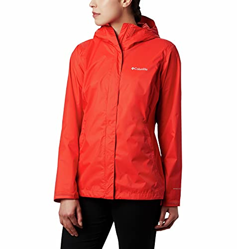 Columbia Arcadia II Hooded Jacket, Waterproof and Breathable Blouson de Pluie, Orange Vif, M Femme