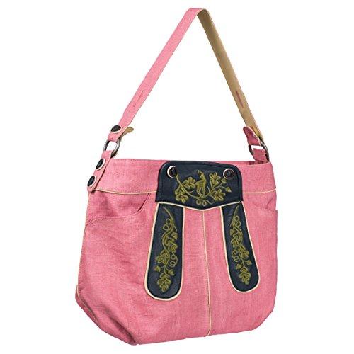Almsach Damen Trachten-Mode außergewöhnliche Trachtentasche zum Dirndl in Rosa traditionell, Farbe:Rosa