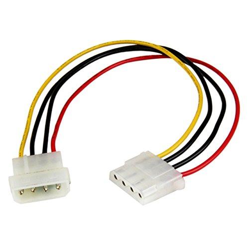 StarTech.com 30cm LP4 Molex Strom Verlängerung - 4 Pin Anschlusskabel / Verlängerungskabel - Stecker/Buchse