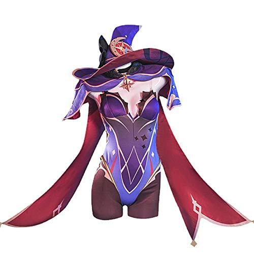 Charous Disfraz de anime japons para cosplay de Genshin Impacto Mona Witcher vestido monos uniformes de cosplay fiesta Holloween traje para mujer
