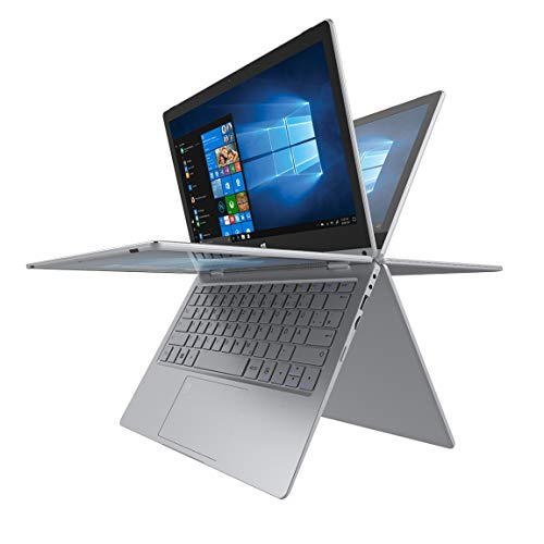 TREKSTOR PRIMEBOOK C11B-CO, Convertible (11,6 Zoll Full-HD IPS Touch Bildschirm, Intel Celeron N3350, 4 GB RAM, 64 GB Speicher, Fingerprintsensor, Windows 10, inkl. Office 365) silber