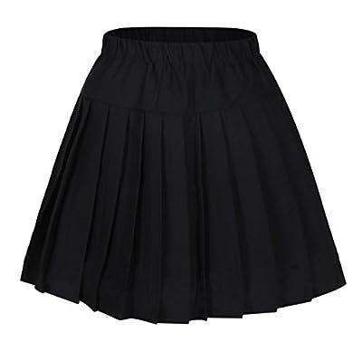Genetic Los Angeles Women`s Short Plaid Elasticated Pleated Skirt School Uniform