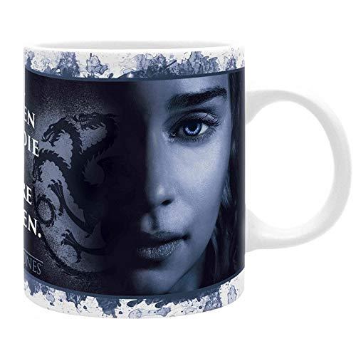 HBO Game of Thrones – Taza premium – Cersei Lannister Vs Daenerys Targaryen – All Men Must Die – Caja de regalo