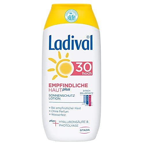 Ladival Empfindliche Haut Plus Sonnenschutz Lotion LSF Parfümfreie Sonnenlotion ohne Farb und Konservierungsstoffe wasserfest ml, Lichtschutzfaktor 30, 200 ml