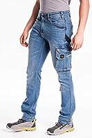 RICA LEWIS - Jeans da lavoro elasticizzati comfort fit MOD. JOB WORKER STONE (TG. 46) #1