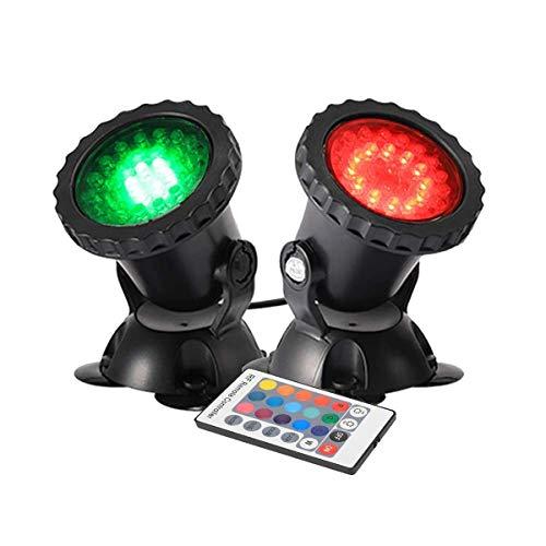 GreenSun Gartenteich Lampe RGB Aquarium Licht 4W Unterwasserlicht 36 Leds Unterwasserleuchte 2 in 1 Teichbeleuchtung Aquarium LED Beleuchtung Aquariumlampe