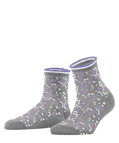 ESPRIT Damen Romantic Flower W SO Hausschuh-Socken, Grau (Light Grey 3400), 39-42 (UK 5.5-8 Ι US 8-10.5) (2er Pack)