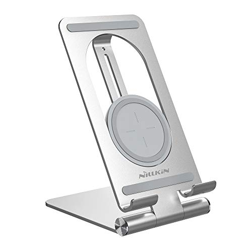 Nillkin PowerHold iPad Wireless Charger Stand, 2-in-1 15W Fast Wireless Charger & Tablet Desktop Holder Stand for iPad Pro 9.7, 10.5, 11, 12.9 Air Mini 4 3 2 and More