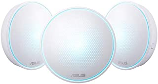 ASUS Home Wi-Fi System, Pack of 3 (for large homes), Tri-Band Mesh Networking Wireless AC2200 Routers with AI Protection - MAP-AC2200