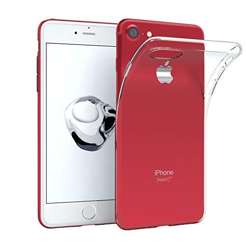 EAZY CASE Hülle kompatibel mit Apple iPhone 8/7 / SE (2020) Schutzhülle Silikon, Ultra dünn, Slimcover, Handyhülle, Silikonhülle, Backcover, Durchsichtig, Klar, Transparent