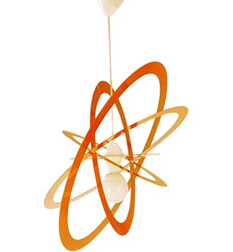 lampadari per camerette ragazzi Lampadario per Camerette Arancio Ovale Saturno