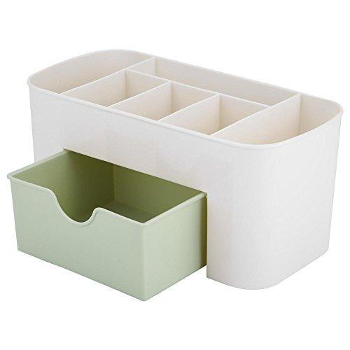 Jimfoty Gioielleria Immagazzinamento cosmetico, Trucco Organizzatore Scatole di Esposizione Scrivania Multifunzione Scrivania Organizer da Tavolo con cassetto(Verde)