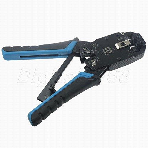 De bonne qualité RJ11/RJ12/RJ45Fiche modulaire Pince à sertir câble réseau Strip Cutter Outil