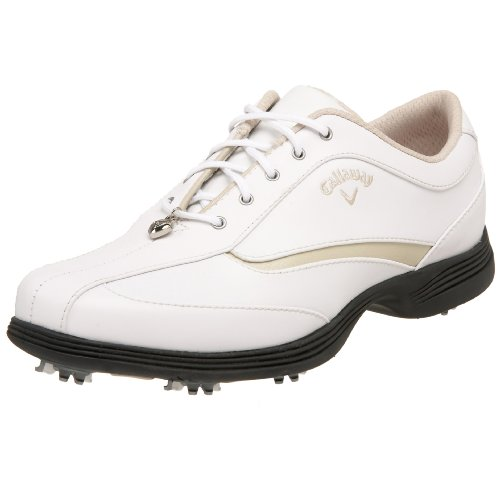 Callaway Women's Charm Golf Shoe,White/Bone,10 M US