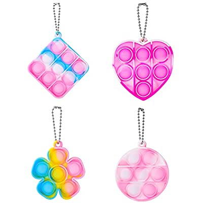 Push Pop Fidget Toys Bubble Keychain Sensory Toys Miniature Novelty Toys Anxiety Autism Early Educational Brain Development Toy Fidget Simple Dimple Toy Stress Relief (Mini) from Comriou