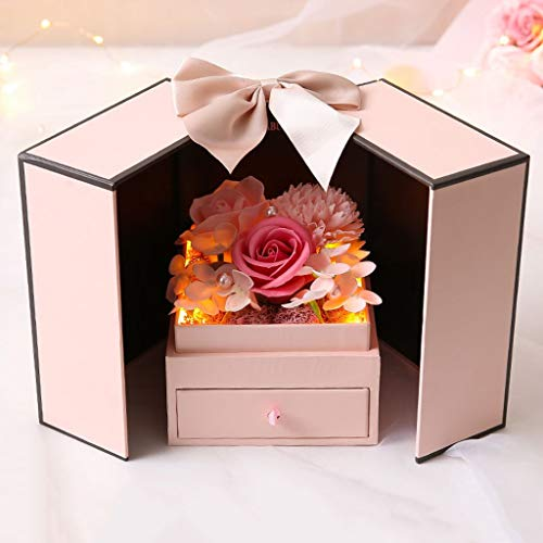 Damen Halskette Bad Seife Rose duftende Seife Blumen Freundin, Muttertag, Hochzeitstag, Hochzeit, Geburtstag,Weihnachts,Ewige Rose Blume
