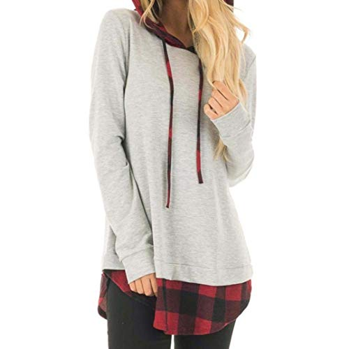 Emmala Pullover Hoodies Oversized Sweatshirts Vrouwen Pulli Shirts Jumper Plaid Esprit Lange Mouw Sweatshirt Tuniek Pullover Grijs Leer Dames Top T Shirt Pullover Dames