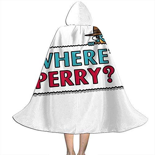 Not Applicable Capa De Bruja,Wheres Perry El Ornitorrinco Phineas Y Ferb Manto Suave Y Cmodo Capa para Disfraces De Brujos 118cm